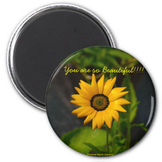 African Daisy-Circle Magnet