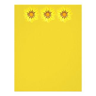 African Daisy / Gazania - Mustard Yellow Letterhead Design