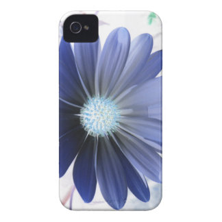 African Daisy Glowing Blue iPhone 4 Case