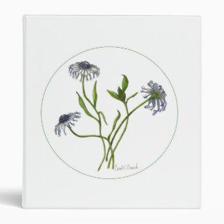 African Daisy (Osteospermum) 3 Ring Binder