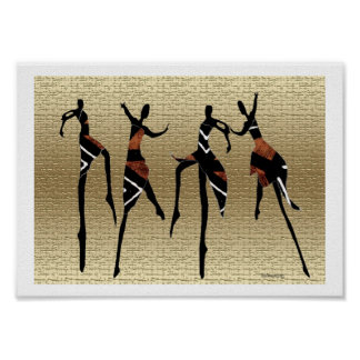 African Dance Group Poster