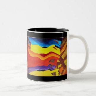 african dancers Two-Tone coffee mug