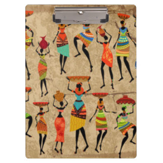 African Dancing Ladies Clipboard