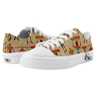 African Dancing Ladies Low-Top Sneakers