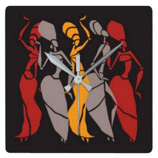African Dancing Ladies Wallclocks