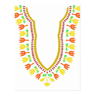 African Dashiki Boubou Necklace - Warm Postcard