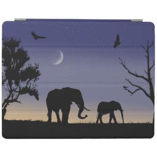 African dawn - elephants iPad cover
