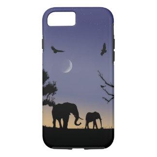 African dawn - elephants iPhone 7 case