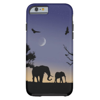 African dawn - elephants tough iPhone 6 case