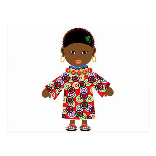 African Doll Postcard