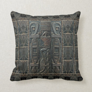 African Door Carving Print Pillow