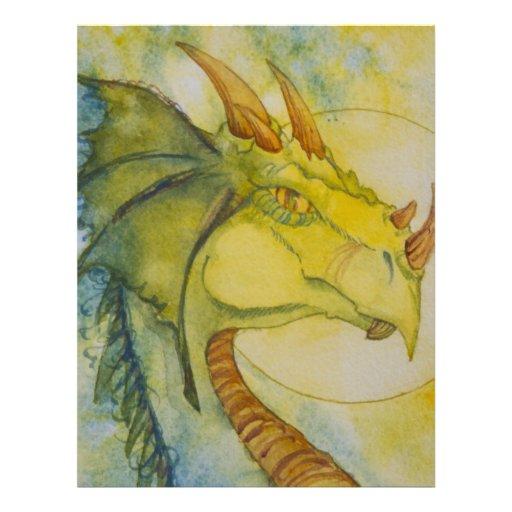 African Dragon Letterhead Template