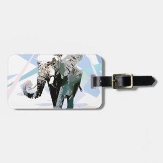 African elephant bag tag
