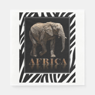 AFRICAN ELEPHANT DISPOSABLE NAPKINS
