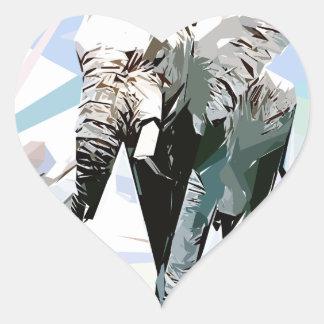 African elephant heart sticker