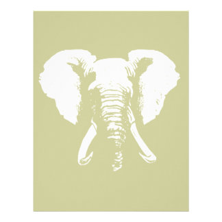 African Elephant Personalized Letterhead