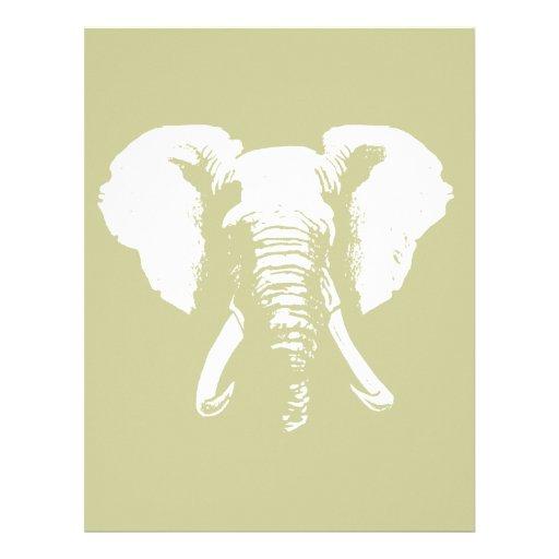 African Elephant Personalized Letterhead