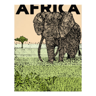 African Elephant Letterhead Template