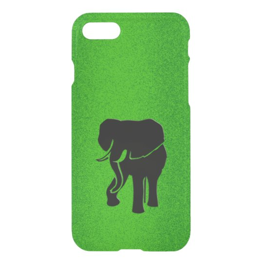 African Elephant on Green iPhone 7 Case