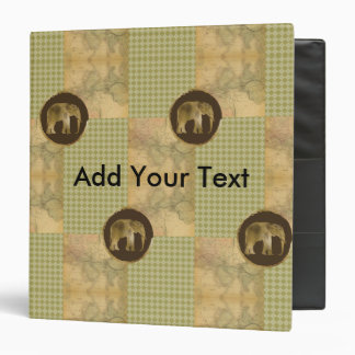 African Elephant on Map and Argyle 3 Ring Binders