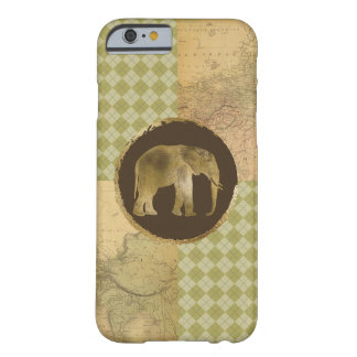 African Elephant on Map and Argyle Barely There iPhone 6 Case