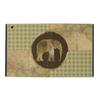 African Elephant on Map and Argyle iPad Case