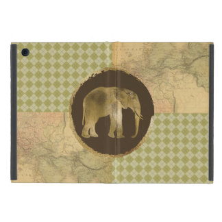 African Elephant on Map and Argyle iPad Mini Cover