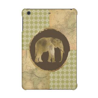 African Elephant on Map and Argyle iPad Mini Retina Cover