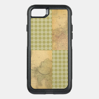 African Elephant on Map and Argyle OtterBox Commuter iPhone 8/7 Case