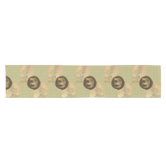 African Elephant on Map and Argyle Short Table Runner