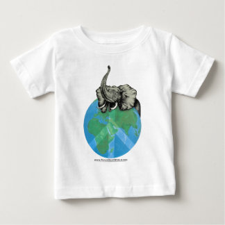 African Elephant Peace design Baby T-Shirt