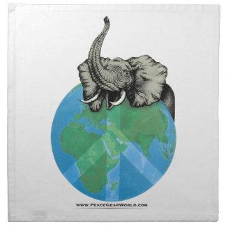 African Elephant Peace design Napkin