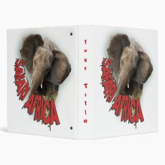 African elephant photograph albums vinyl binder