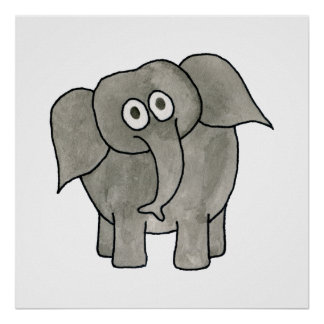 African Elephant. Poster