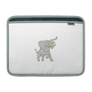 African Elephant Prancing Mono Line Sleeves For MacBook Air