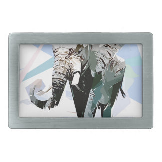 African elephant rectangular belt buckles