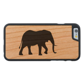 African Elephant Silhouette Carved Cherry iPhone 6 Case