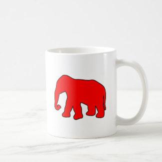 African Elephant Silhouette Ivory Tusks Dumbo Classic White Coffee Mug