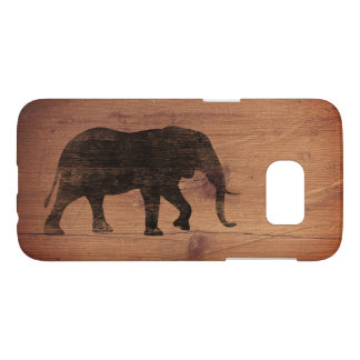 African Elephant Silhouette Rustic Style Samsung Galaxy S7 Case