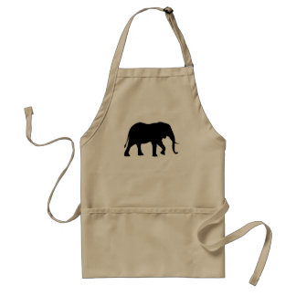 African Elephant Silhouette Standard Apron