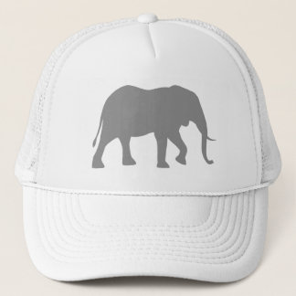 African Elephant Silhouette Trucker Hat