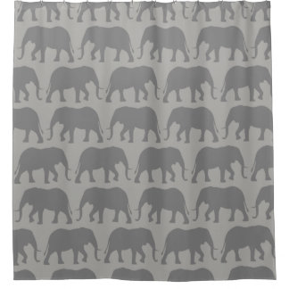 African Elephant Silhouettes Pattern