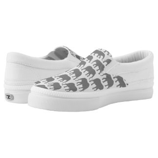 African Elephant Silhouettes Pattern Slip-On Sneakers