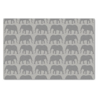 African Elephant Silhouettes Pattern Tissue Paper