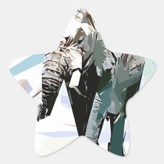 African elephant star sticker