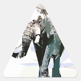 African elephant triangle sticker