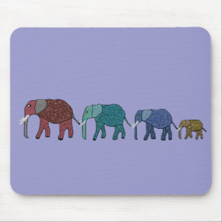 African Elephant Walk Mouse Pad