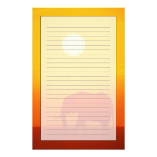 African elephant walking at sunset , Kenya Stationery