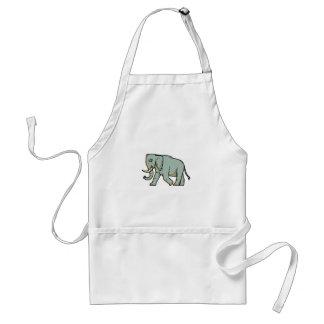 African Elephant Walking Mono Line Art Standard Apron