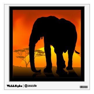 African Elephant Wall Decal